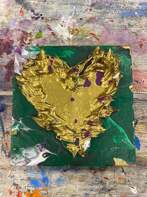 Mini Heart Canvas #18