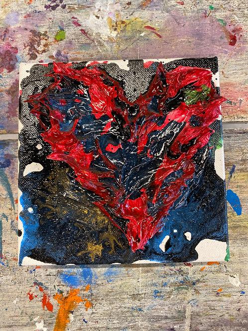 Mini Heart Canvas #22