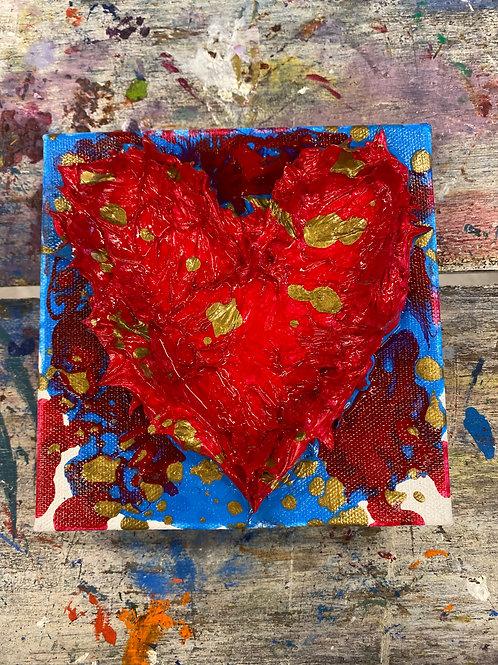 Mini Heart Canvas #15