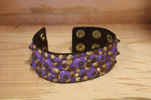 Painted Leather Bracelet #68
