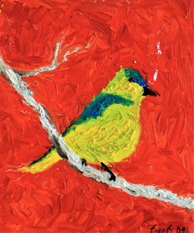 Yellow Bird 24x20 Oil on Canvas