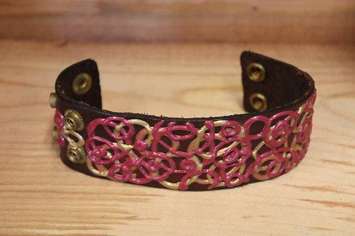 Painted Leather Bracelet #16