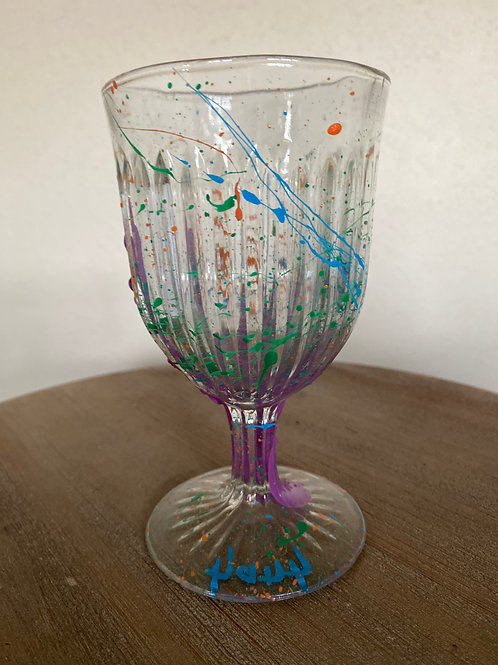 Painted Glass Cup #12