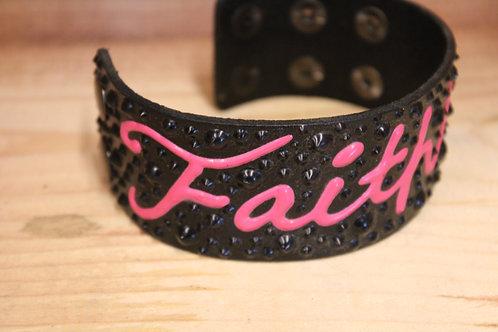 Painted Leather Bracelet #11