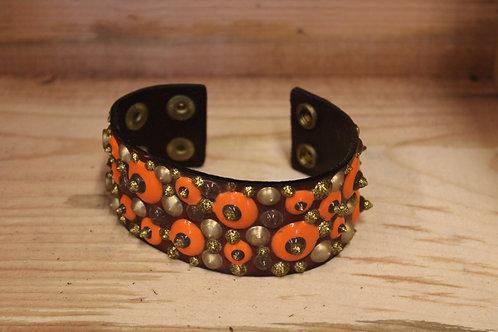 Painted Leather Bracelet #80