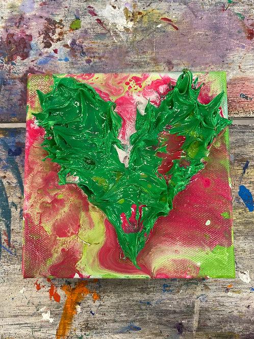 Mini Heart Canvas #14