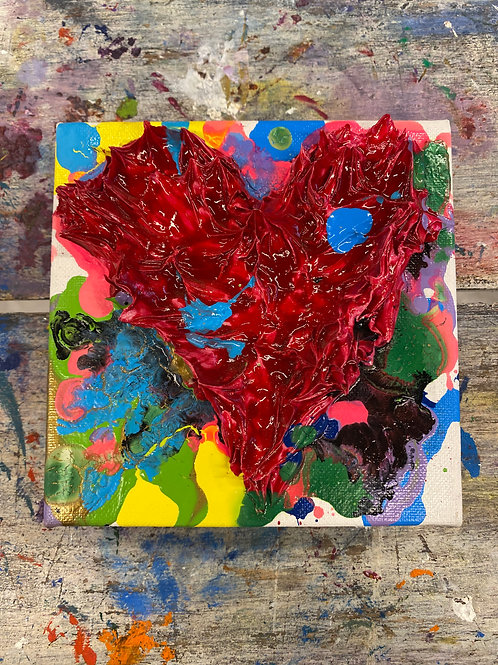 Mini Heart Canvas #11