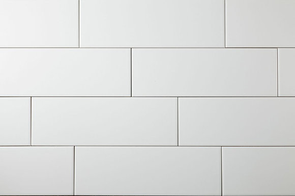 White Wall Tile 100x300mm