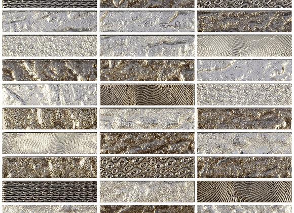 Crystal Glass Luxor Platinum 300x300mm