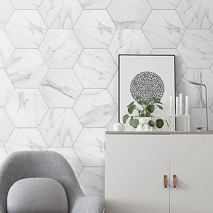 Hexagon Carrara Matt 200x230mm