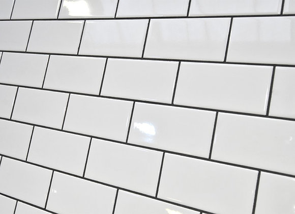 White Wall Tile 75x150mm
