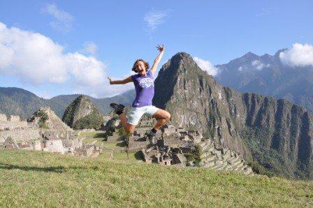 na skok na Machu Picchu, Peru