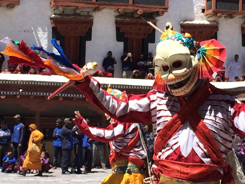 Smrťáčci jsou součástí budhistické oslavy
