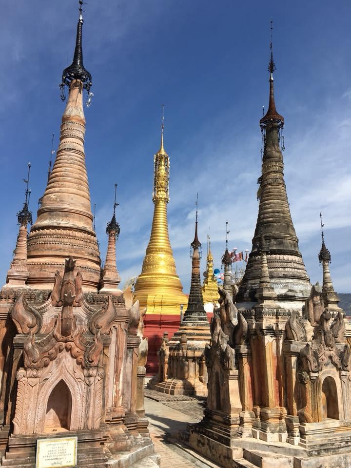 Mírumilovné prostředí mezi pagodami a jezero Inle