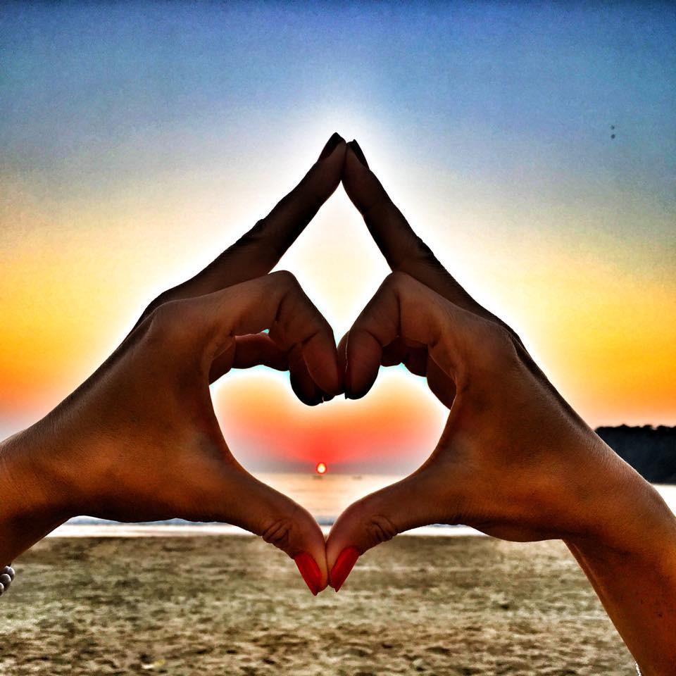 Srdce plné západů slunce