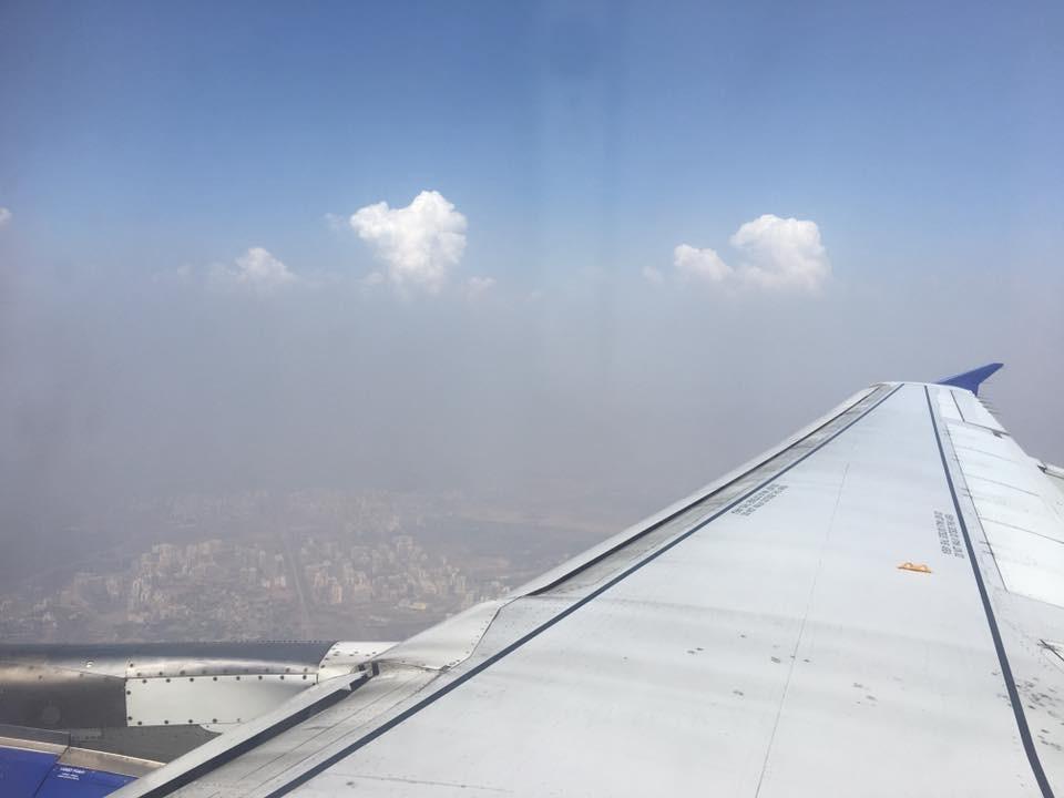 Oblaka nad Bombají v Indii