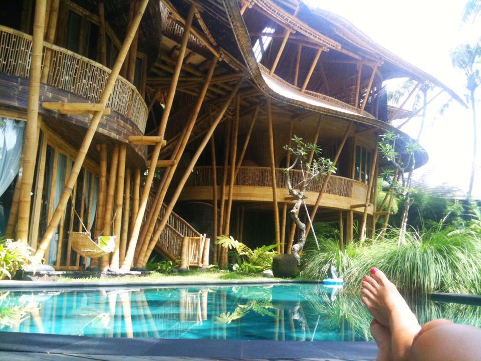Bambusový domeček na Bali