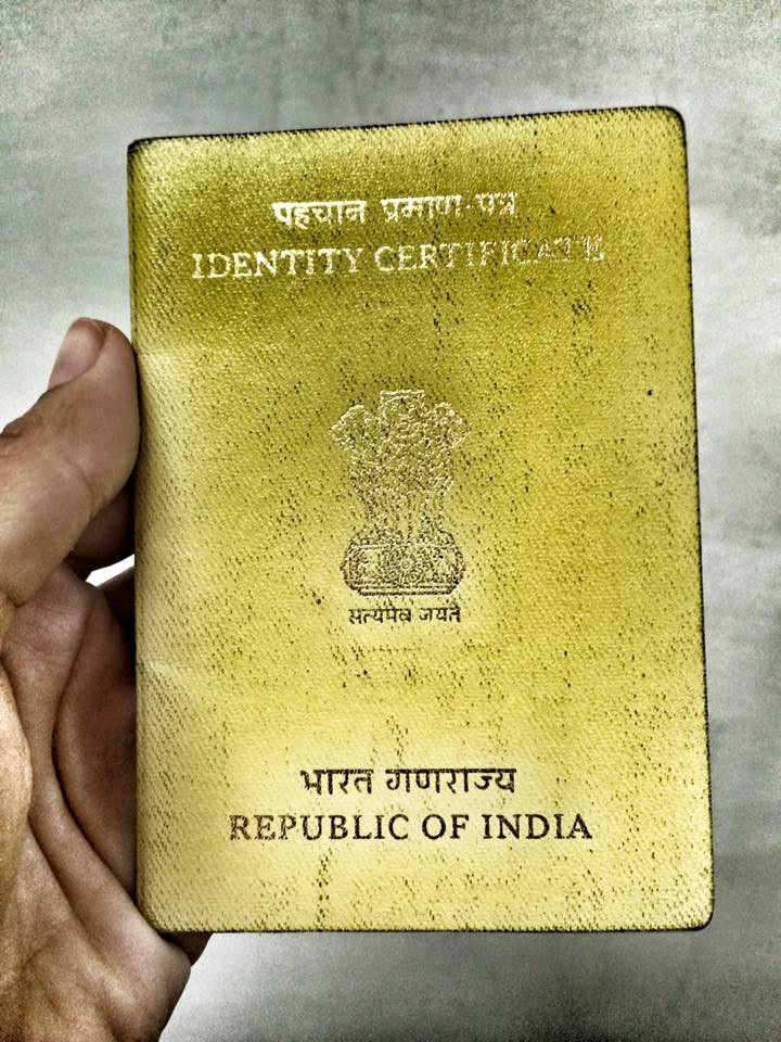 Cestovní doklad Tibeťana žijícího v exilu v Indii