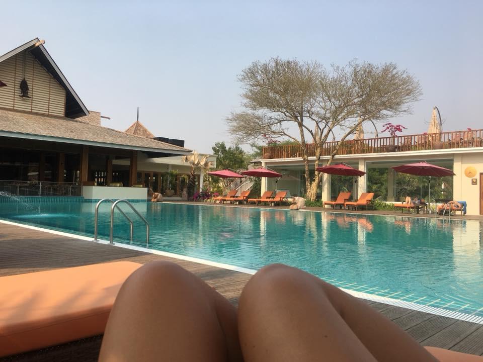 Přepachové zázemí čtyřhvězdičkového hotelu v Baganu