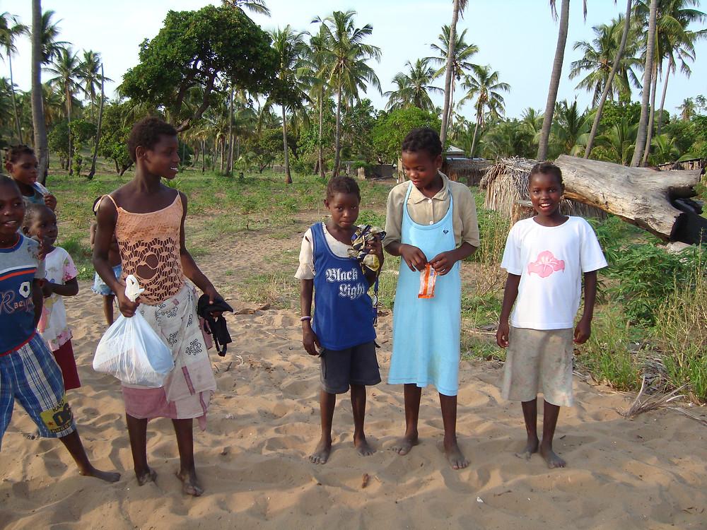 Radost z obdarování nezná mezí - Mozambik