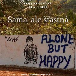 Sama šťastná
