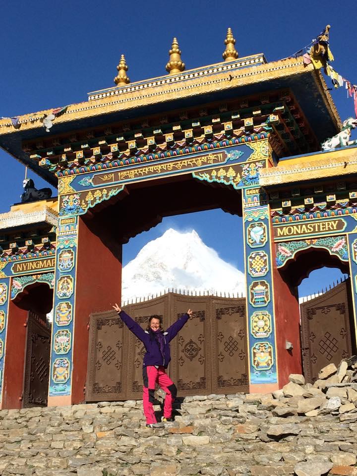 Brána kláštera - Manaslu