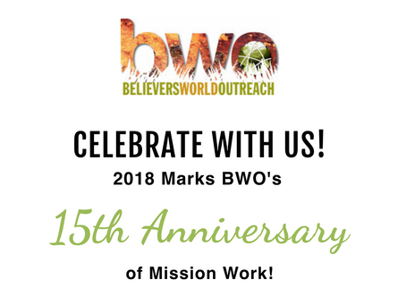 Special 15th Anniversary Information for BWO!