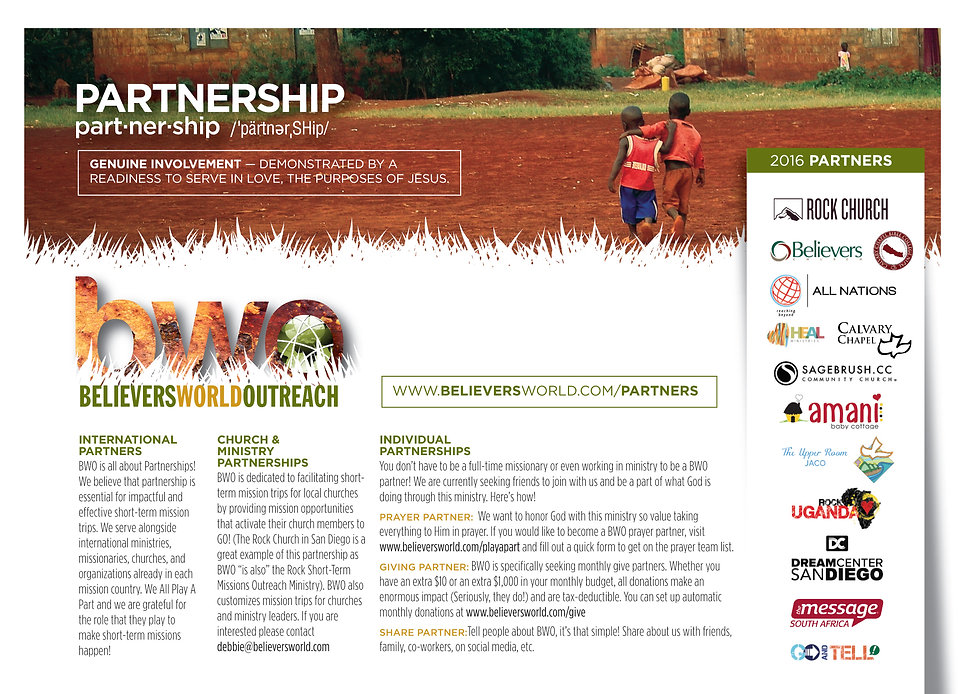 BWO partners for mission trips