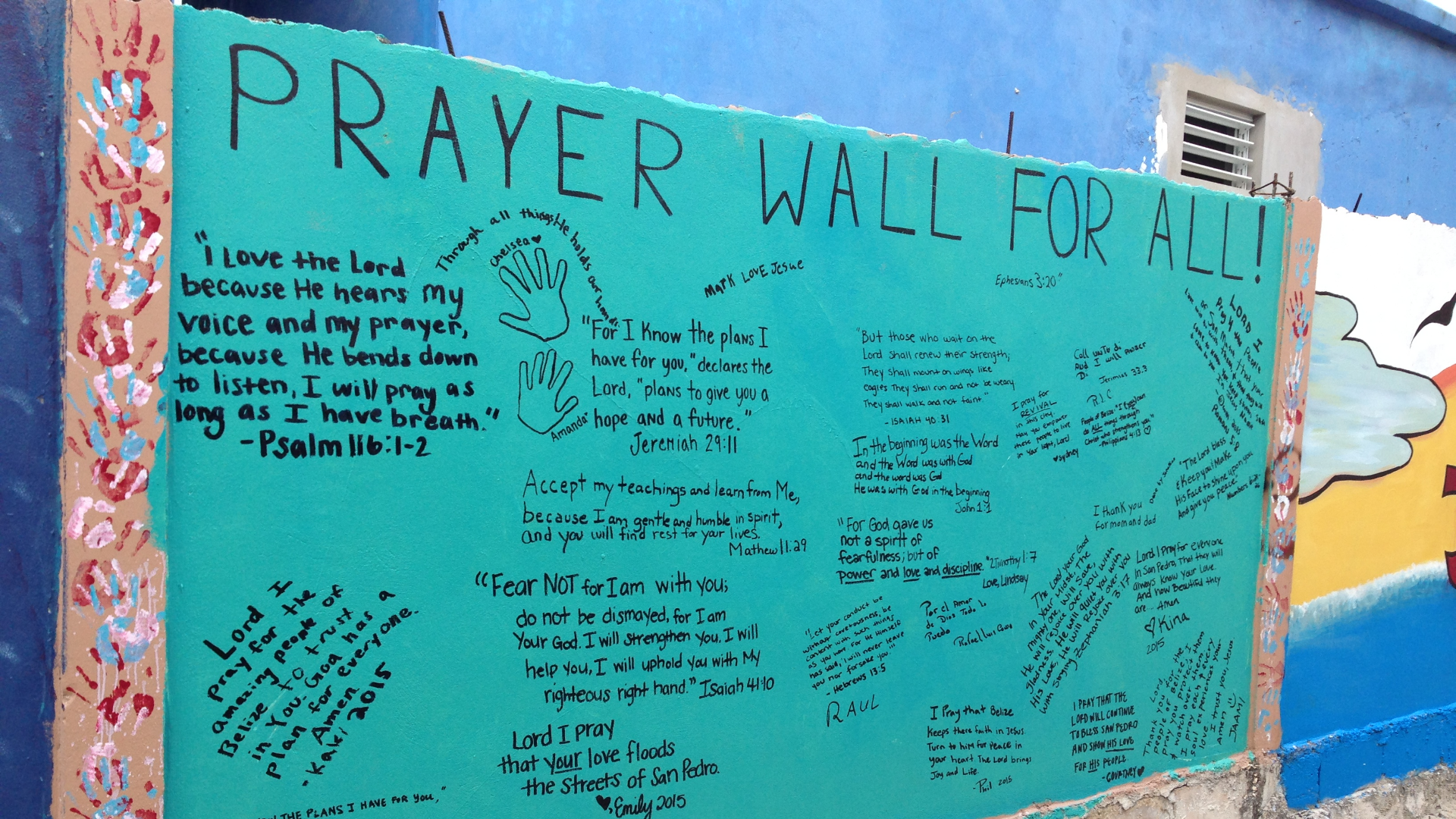 BWO Missions Belize Prayer Wall