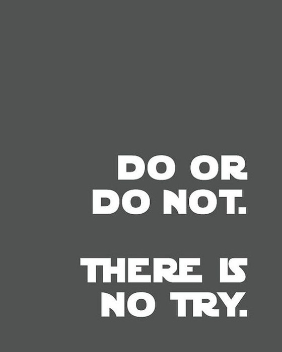 Do or Do Not...There is No Try