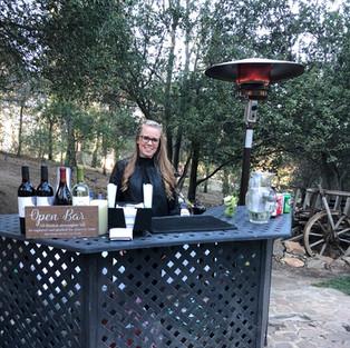 Outdoor Bar Setup