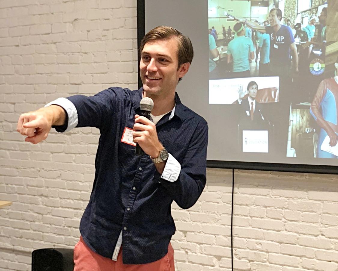 Jacob speaking at GA event