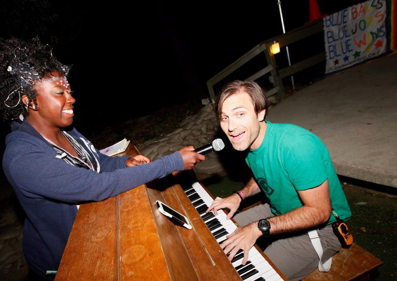 Jacob performing piano at CNC