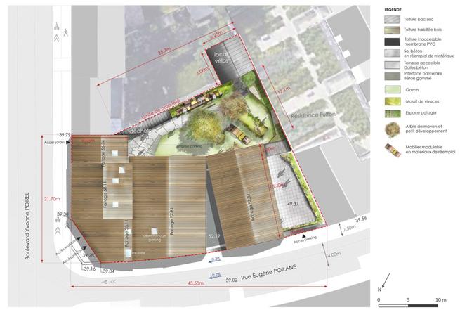 Plan de masse de La Station A