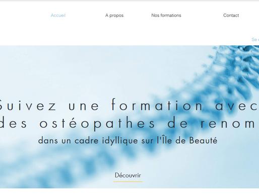 Site internet pour le 1er centre de formation en ostéopathie de Corse