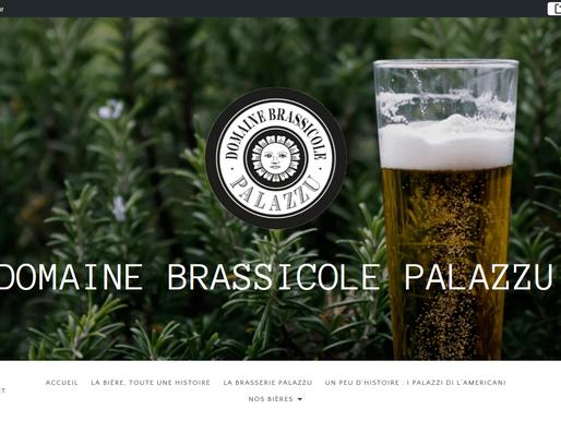 Création site internet pour la bière Palazzu