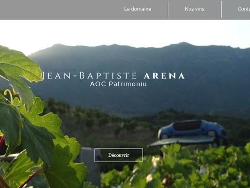 Site internet pour le Domaine Arena Jean-Baptiste