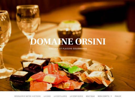 Création du site e-commerce du Domaine Orsini