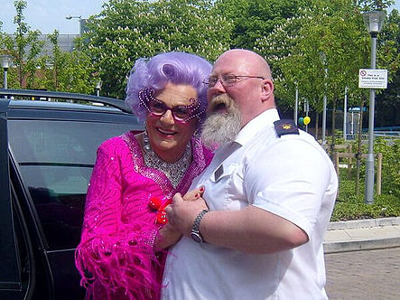 DAME EDNA EVERAGE AND MALCOLM AT LMTS