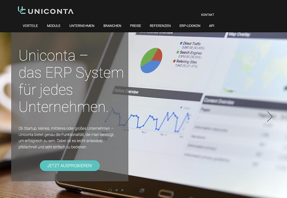 Website inkl. SEO Uniconta