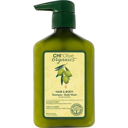 Chi Olive organics hair & body shampoo 340ml