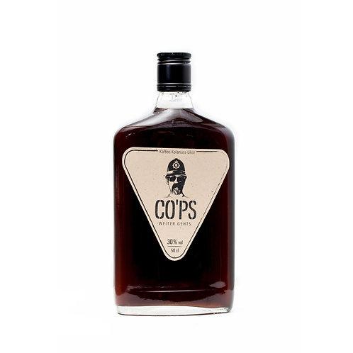 CO'PS Likoer | 3 Flaschen mit 6 Stamperl und 3 Ausgießer