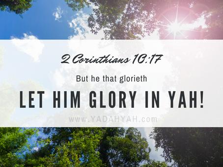 Glory In Yahuah