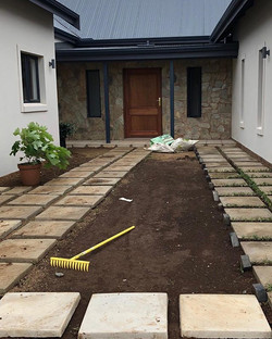 The beginning of a garden at St Johns in