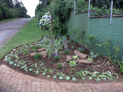 Soil prepared and garden planted
