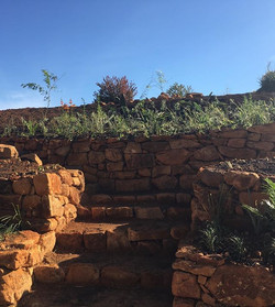 We built the rock walls and planted a ga