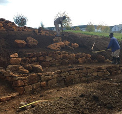 Friday was spent building the walls and