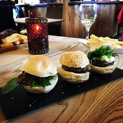 We are now serving sliders here at the F