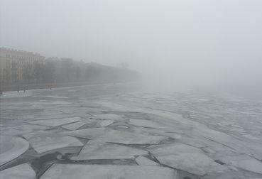 Голубой лед. Санкт-Петербург, 2017г.