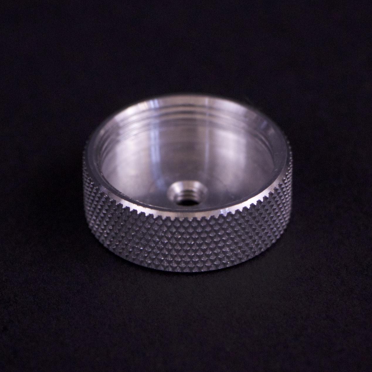 CNC knurled cap